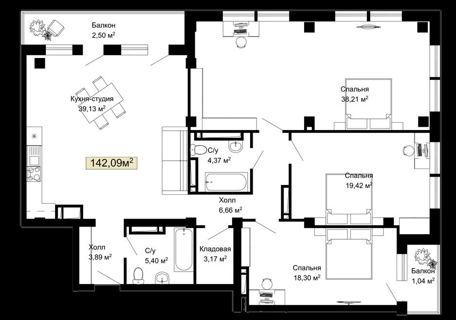 021, 026, 031, 036, 195, 200, 205, 210 планировка квартир жк Колумб Одесса