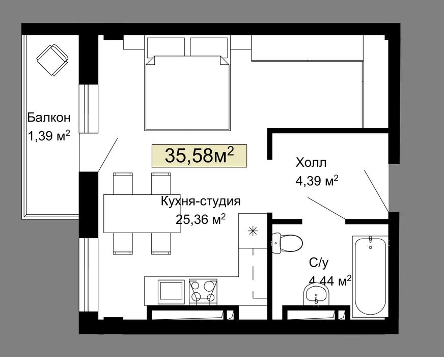 025, 030, 035, 040, 191, 196, 201, 206 планировка квартир жк Колумб Одесса
